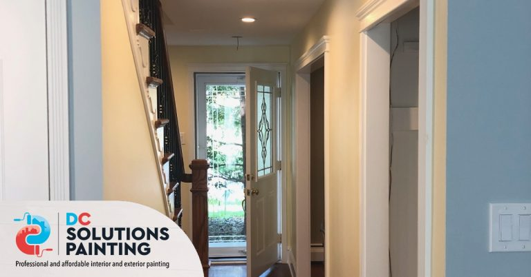 Interior painting residential house